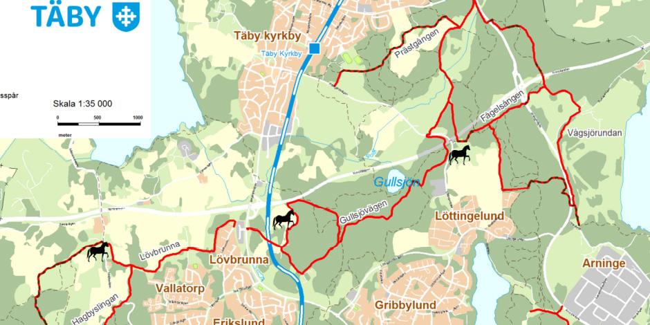 Ridvägar i Täby